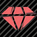 diamond, jewelry, rubin, red, stone