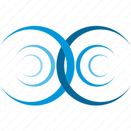 blue, collision, interference, water, wave icon