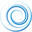 sea, spiral, water, wave icon