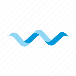 letter, logo, spiral, summer, w, water, wave icon