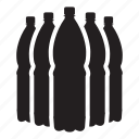 bottle, drink, liter, plastic, water icon