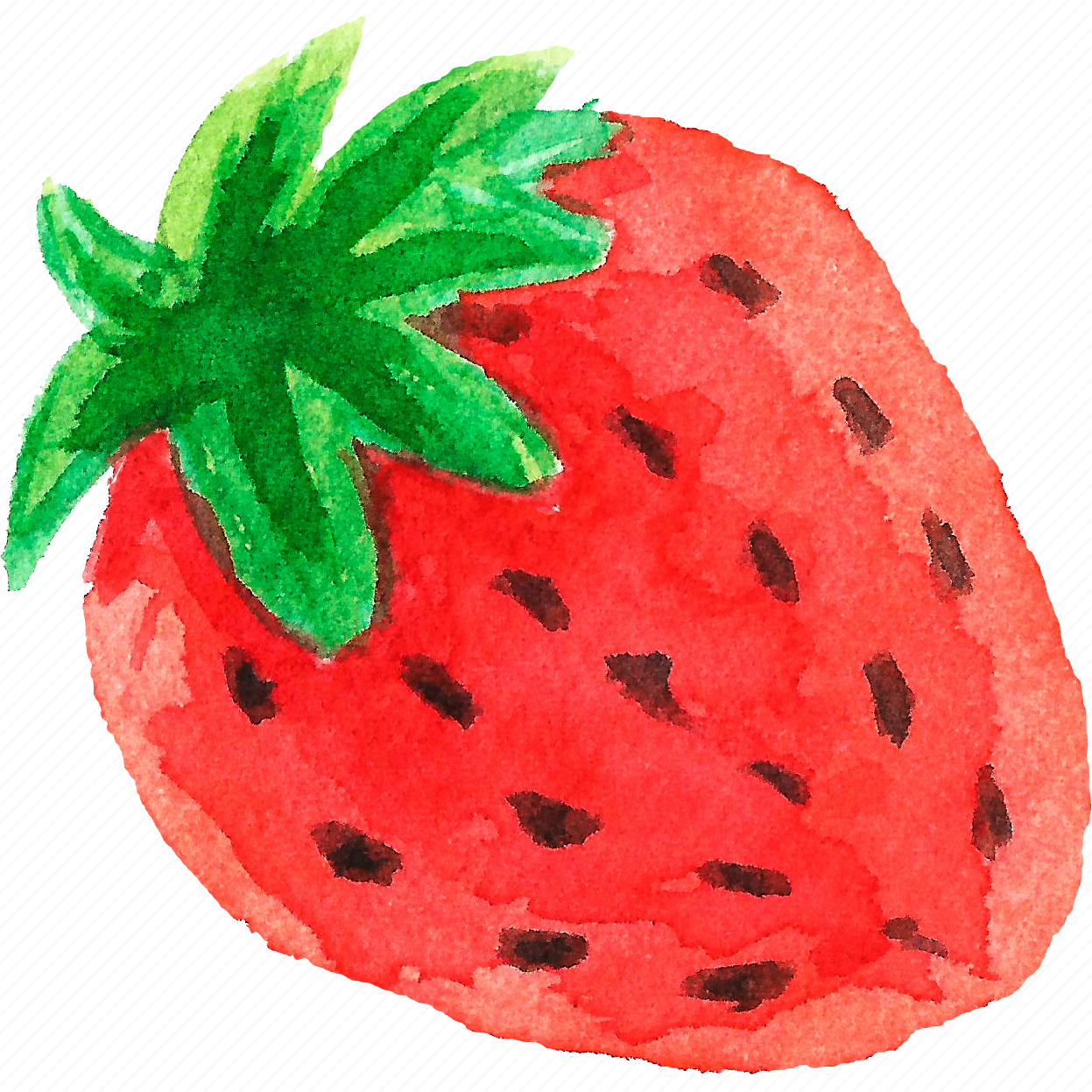 cuisine, food, fruit, fruits, strawberry, watercolor, watercolors icon