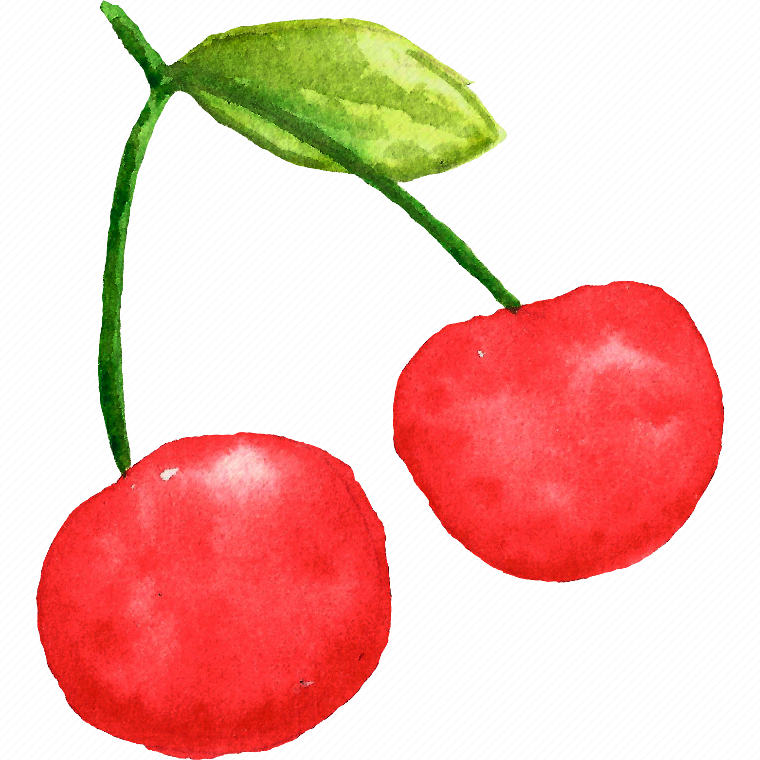 Cherry, cuisine, food, fruit, fruits, watercolor, watercolors icon ...