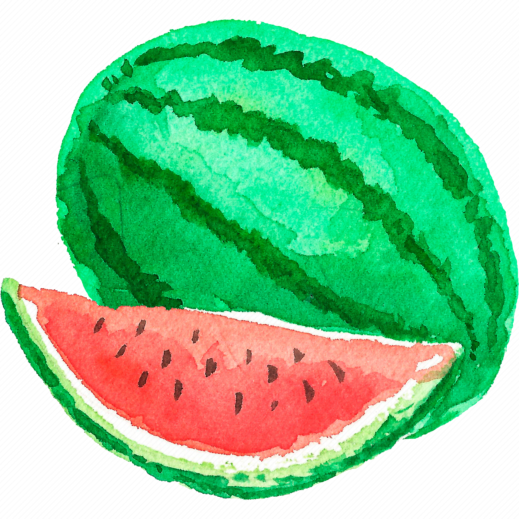 cuisine, food, fruit, fruits, watercolor, watercolors, watermelon icon