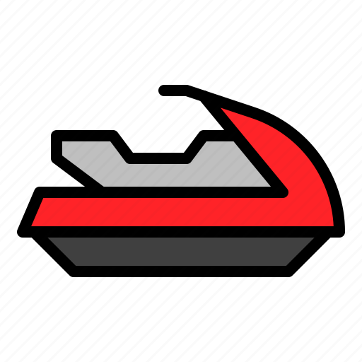 boat, marine vessel, ship, vehicle, water scooter, watercraft icon