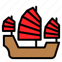 boat, marine vessel, sailboat, ship, vehicle, watercraft icon