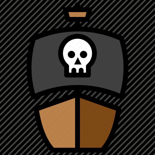boat, marine vessel, pirate ship, ship, vehicle, watercraft icon