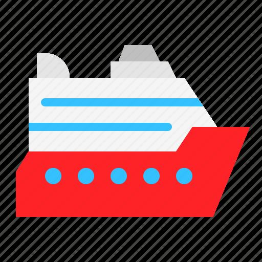 boat, cruise, marine vessel, ship, vehicle, watercraft icon