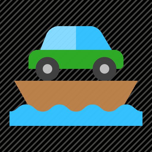 boat, ferry, marine vessel, ship, vehicle, watercraft icon