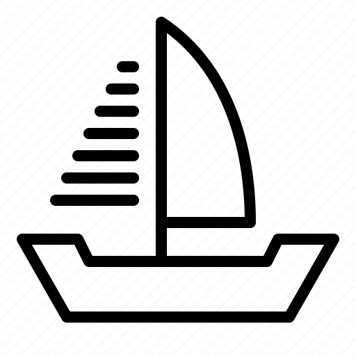 boat, marine vessel, sailboat, ship, vehicle, watercraft icon