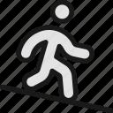 walking, descend