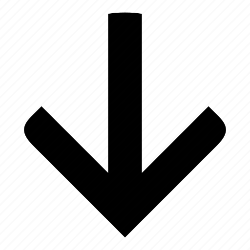 arrow, backward, direction, down, guidance, guide, movement icon