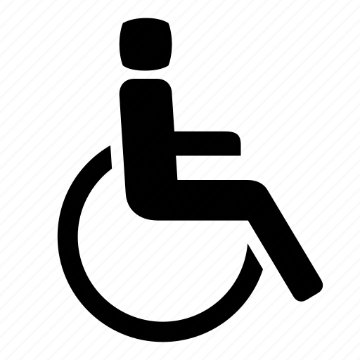 accessibility, chair, deficient, disabled, handicap, handicapable, wheelchair icon