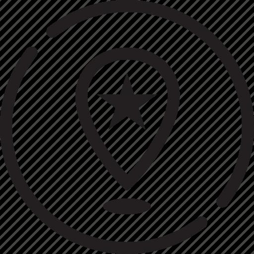cursor, dot, flag, guide, landmark, map, marker icon