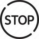 denied, heed, road sign, stop, stop sign, traffic sign, warning icon