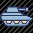 armed force tank, army tank, military tank, tank, war tank icon