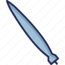 aerial bomb, missile, nuclear bomb, surface-to-surface missile icon
