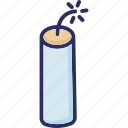 dynamite, dynamite stick, plastic explosive icon