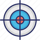 shoot point, shoot target point, shooting point, target, target point icon