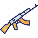 gun, modern, pump action, shooter, submachine gun icon