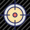 gun shooting target, gun target, optical sight, shooting target, target icon