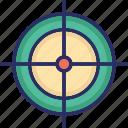 goal, gun shooting target, shooting target, target, weapon target icon