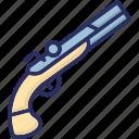 gun, hand gun, old hand gun, pistol, weapon icon