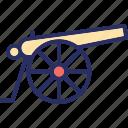 bombard, bronze cannon, cannon, howitzer, siege cannon icon