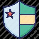 defence, defend, guard, protect, usa shield icon