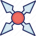 japanese shuriken, ninja star, shuriken, shuriken ninja star, shuriken of nindzya icon
