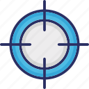 optical sight, reticle, sight, target, weapon crosshair icon