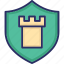 castle sign, defence, defend, guard, protect icon