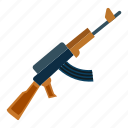 assault, weapon, akm, ak47, rifle, kalashnikov icon