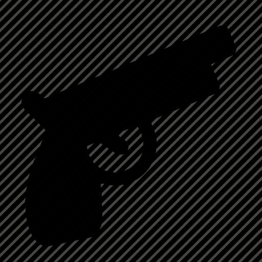 gun, hand, handgun, pistol, revolver, weapon icon