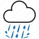 rain, raining, rainy icon