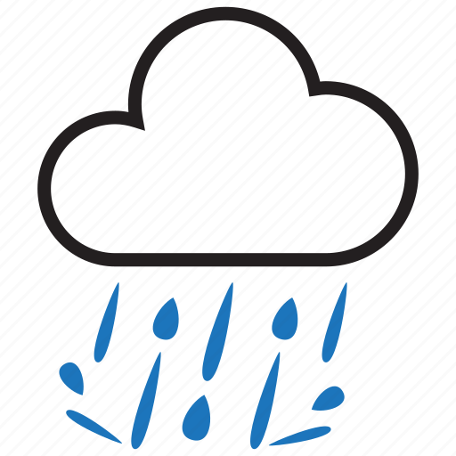 cloud, heavy, rain, raining icon