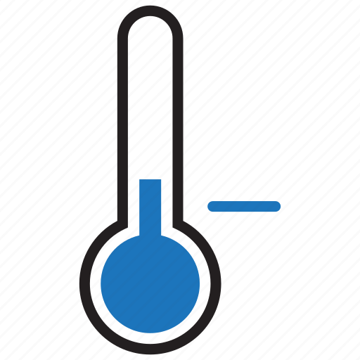 forecast, low, temperature, thermometer icon