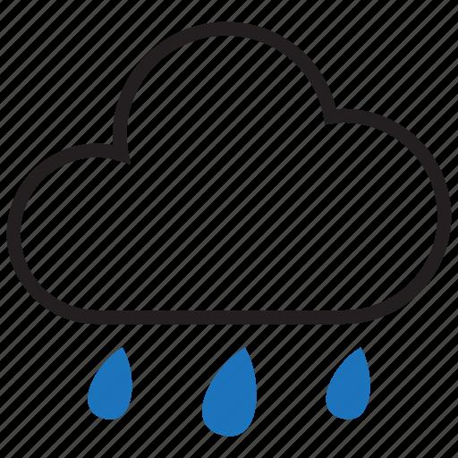 climate, cloud, rain, raining icon