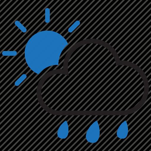 forecast, rainy, sun, sunny icon
