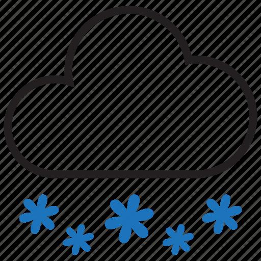 snow, snowflake, snowy, winter icon