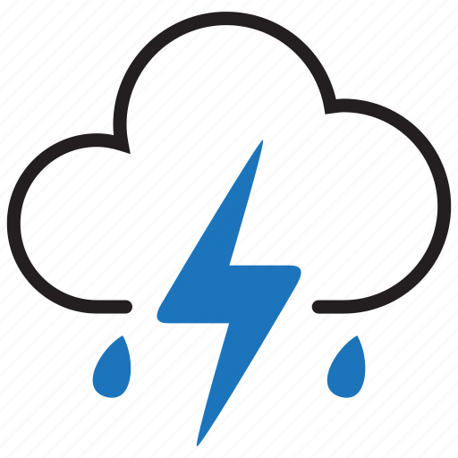 lightning, rain, storm, thunder icon