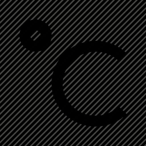 celsius, centigrade, temperature, temperature scale, thermometer icon