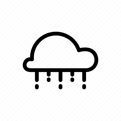 cloud, drizzle, drops, rain, shower, sprinkling, weather icon