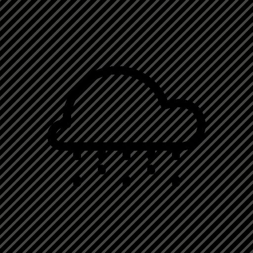cloud, drizzle, drops, rain, rainy, sprinkling icon