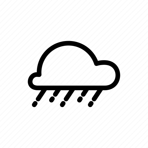 cloud, drizzle, heavy rain, raining, shower icon