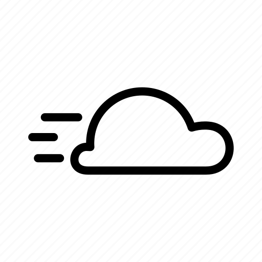 change, cloud, moveing, weather icon
