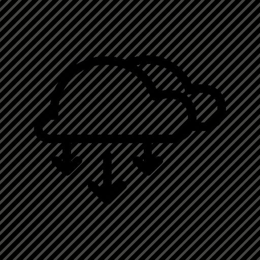 clouds, dwon icon