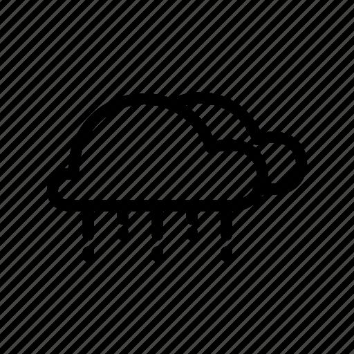 clouds, drops, rain, shower icon