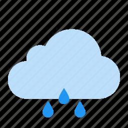 cloud, rain, raining, weather icon