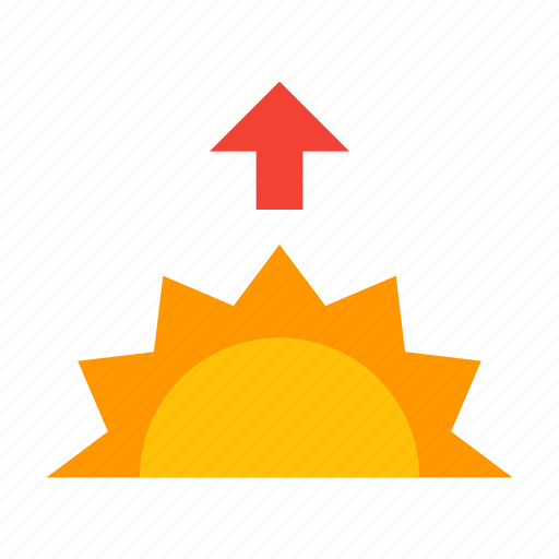 day, morning, sun, sunrise, weather icon